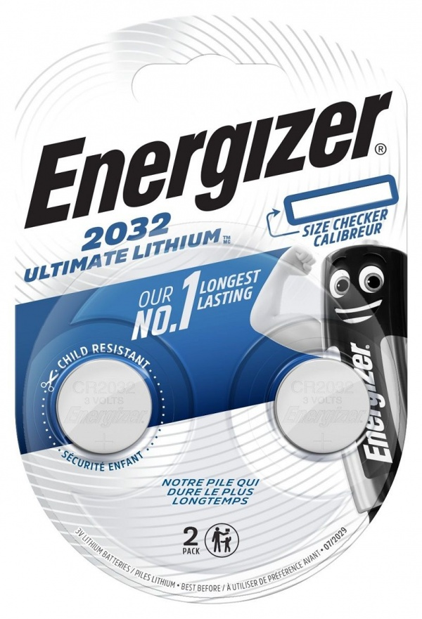 Батарейки Energizer Lithium CR2032 3V (таблетка) - 2 шт.