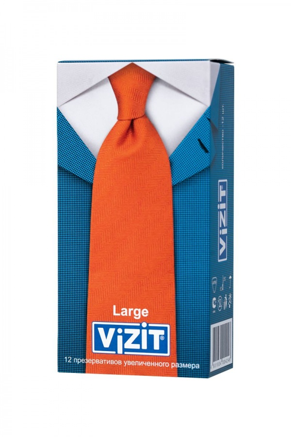 Презервативы VIZIT Large увеличенного размера - 12 шт.