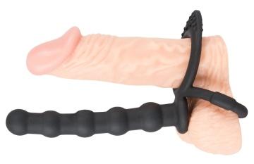 Насадка на пенис для двойного проникновения Cock & ball ring