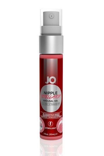 Возбуждающий гель JO Nipple Titillator Electric Strawberry - 30 мл.