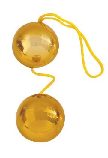 Золотистые вагинальные шарики Balls