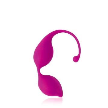 Ярко-розовые фигурные вагинальные шарики Cosmo