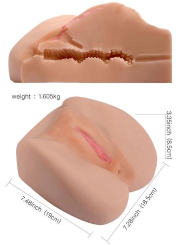 Телесный реалистичный мастурбатор-вагина SHEQU