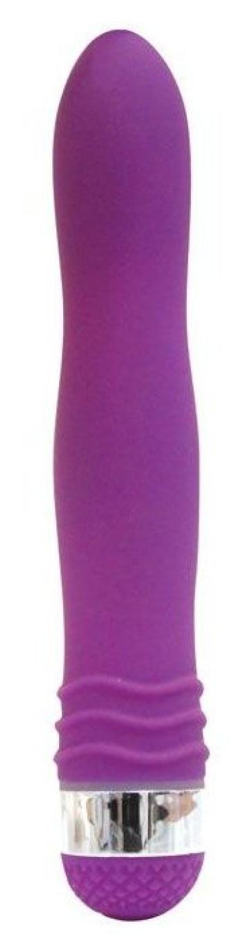 Фиолетовый эргономичный вибратор Sexy Friend - 17,5 см.