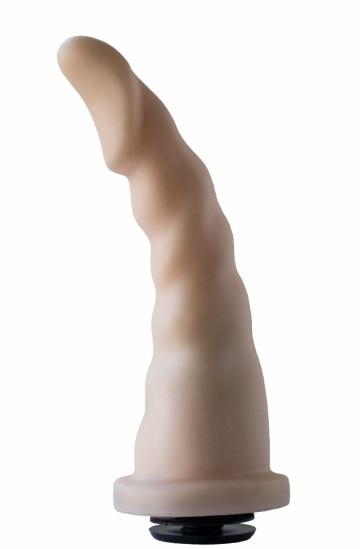 Телесная насадка на трусики харнесс Alien - 18 см.