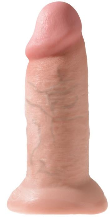 """Телесный фаллоимитатор King Cock 10"""" Chubby - 25 см."""