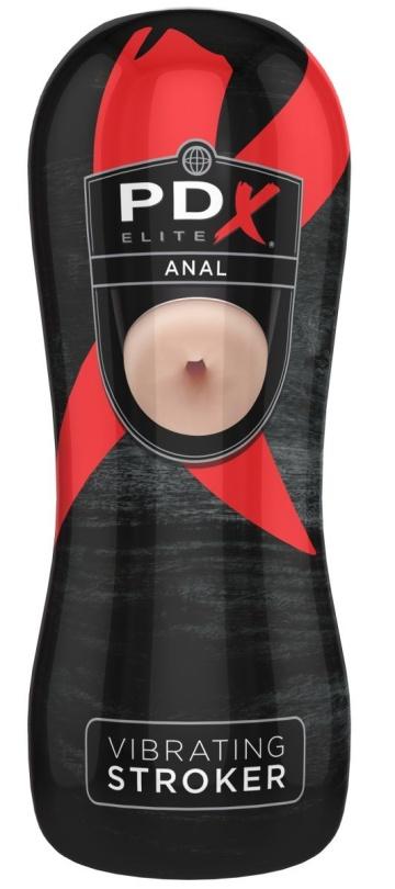 Телесный вибромастурбатор-анус в тубе Vibrating Anal Stroker