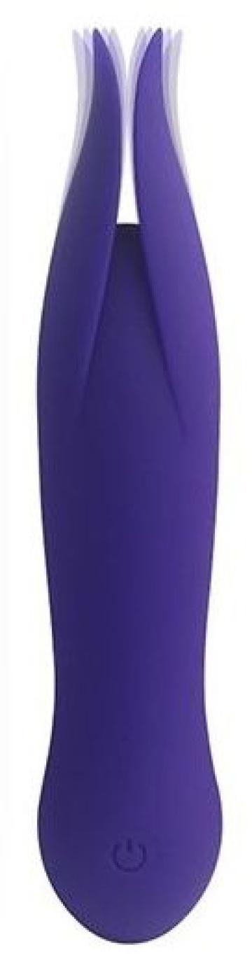 Фиолетовый клиторальный вибростимулятор LITTLE SECRET - 16,5 см.