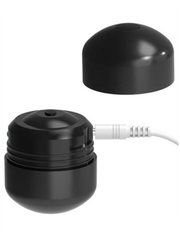 Черные виброшарики с пультом управления K-Balls