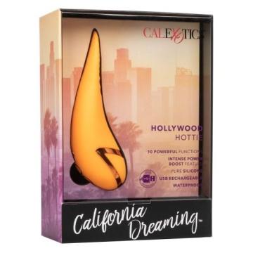 Оранжевый вибратор Hollywood Hottie с имитацией движения языка