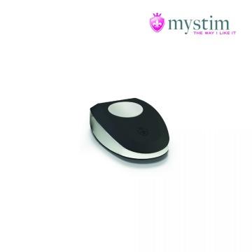 Черная пробка Mystim Rocking Vibe S с возможностью подключения к электростимулятору - 9,7 см.
