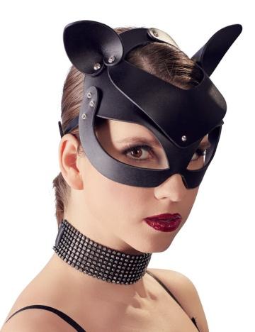 Маска на глаза с ушками Cat Mask Rhinestones