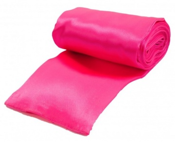 Розовая атласная лента для связывания - 1,4 м.