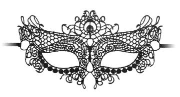 Черная кружевная маска на глаза Queen Black Lace Mask