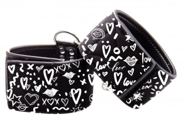 Черные наручники Love Street Art Fasion