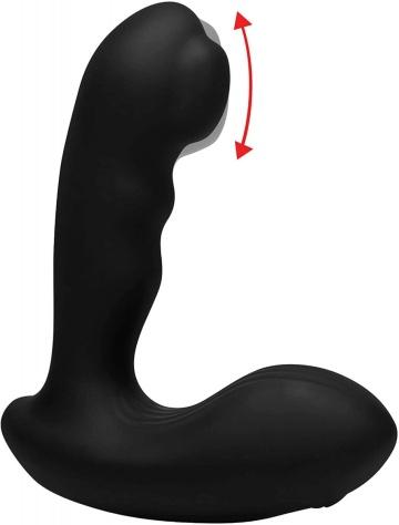 Черный стимулятор простаты Alpha-Pro 7X P-Milker Silicone Prostate Stimulator with Milking Bead