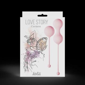 Набор розовых вагинальных шариков Love Story Carmen