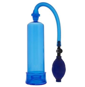 Синяя вакуумная помпа MENZSTUFF PENIS ENLARGER