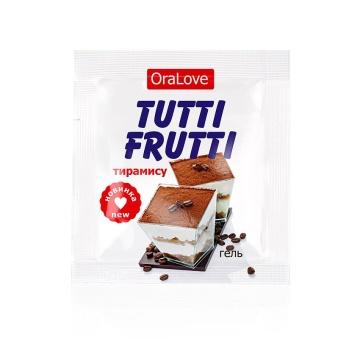 Пробник гель-смазки Tutti-frutti со вкусом тирамису - 4 гр.