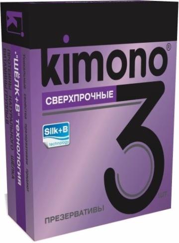 Сверхпрочные презервативы KIMONO - 3 шт.