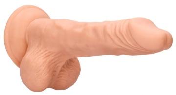 Телесный фаллоимитатор Realistic Dildo With Balls - 25 см.