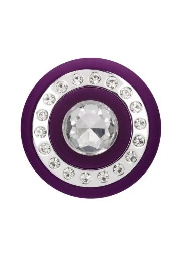 Фиолетовый классический вибромассажер Jewel - 19,5 см.