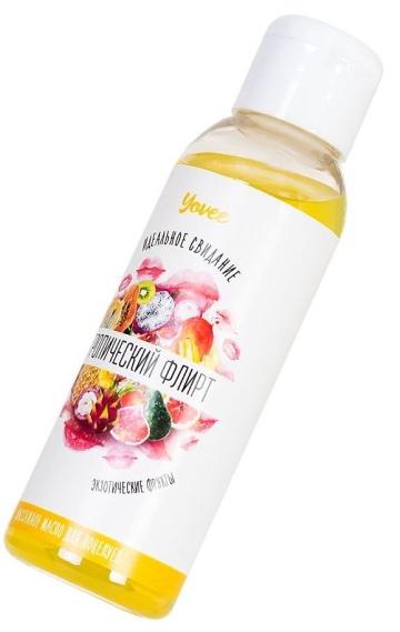 """Массажное масло для поцелуев """"Тропический флирт"""" с ароматом экзотических фруктов - 100 мл."""