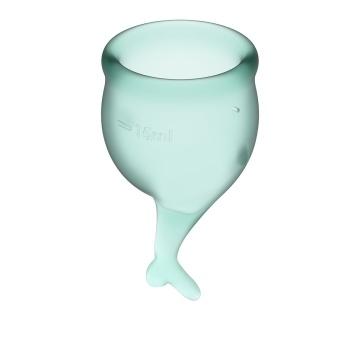Набор темно-зеленых менструальных чаш Feel secure Menstrual Cup