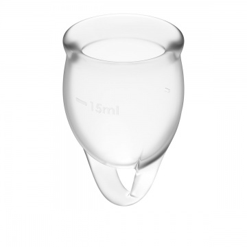 Набор прозрачных менструальных чаш Feel confident Menstrual Cup