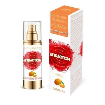 Массажное разогревающее масло с феромонами и ароматом манго - 30 мл.