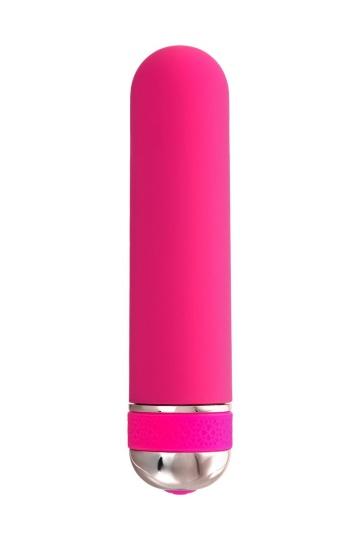 Розовый нереалистичный мини-вибратор Mastick Mini - 13 см.