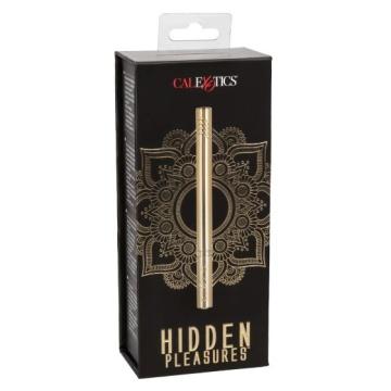 Золотистый ультратонкий вибромассажер Hidden Pleasures