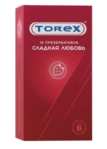"""Презервативы Torex """"Сладкая любовь"""" с ароматом клубники - 12 шт."""