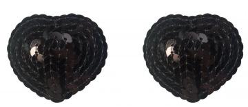 Черные пэстисы-сердечки Rand