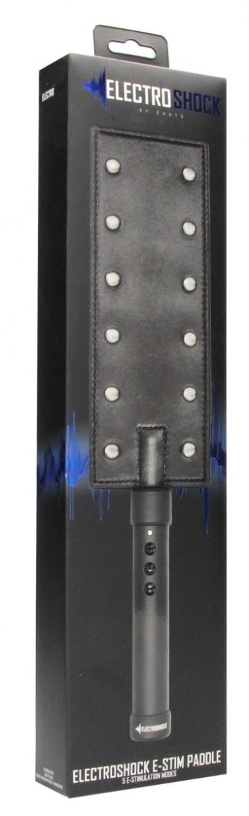 Черный падл E-stim Paddle с электростимуляцией