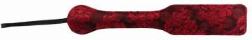 Красная прямоугольная шлепалка с цветочным принтом - 32,6 см.