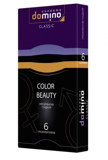 Разноцветные презервативы DOMINO Classic Colour Beauty - 6 шт.