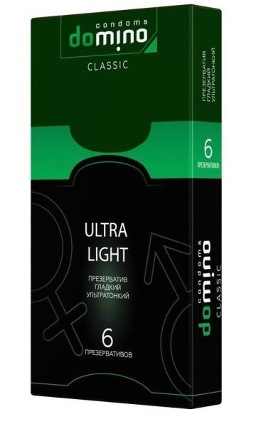 Супертонкие презервативы DOMINO Classic Ultra Light - 6 шт.