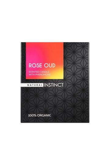 """Ароматическая свеча с феромонами Natural Instinct """"Роза и уд"""" - 180 гр."""