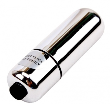 Гладкая серебристая вибропуля My First Mini Love Bullet - 5,5 см.