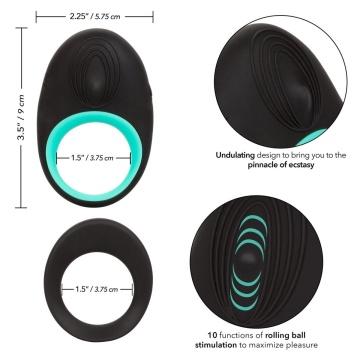 Набор из двух черных эрекционных колец Link Up Pinnacle