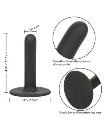 """Черный анальный стимулятор Boundless 4.5"""" Slim Probe - 11,5 см."""