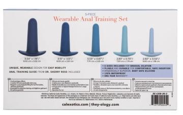 Набор из 5 анальных расширителей They-ology 5-Piece Wearable Anal Training Set