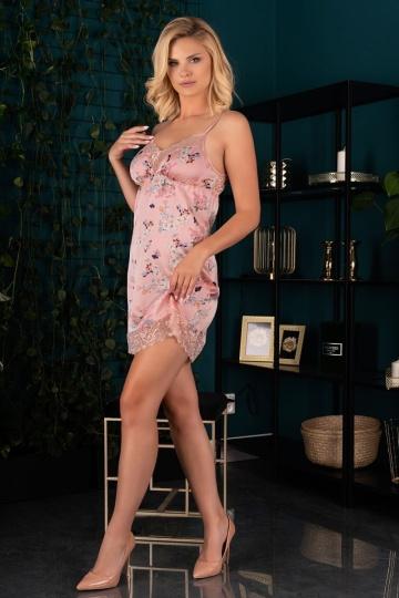 Короткая сорочка Katissa с цветочным принтом