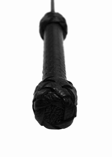 Черный профессиональный стек с тисненной ручкой - 77 см.