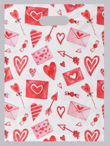 """Подарочный пакет """"С любовью"""" - 31 х 40 см."""