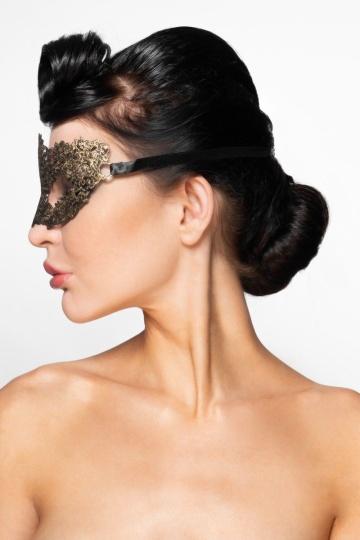 """Золотистая карнавальная маска """"Альциона"""""""