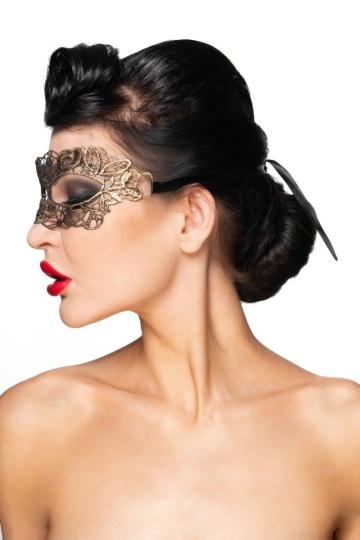 """Золотистая карнавальная маска """"Киталфа"""""""