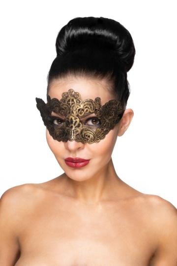 """Золотистая карнавальная маска """"Курса"""""""