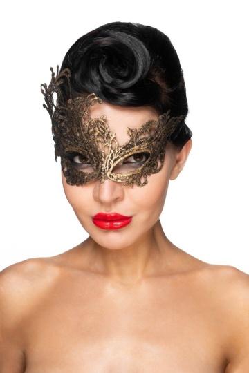 "Золотистая карнавальная маска ""Хамаль"""